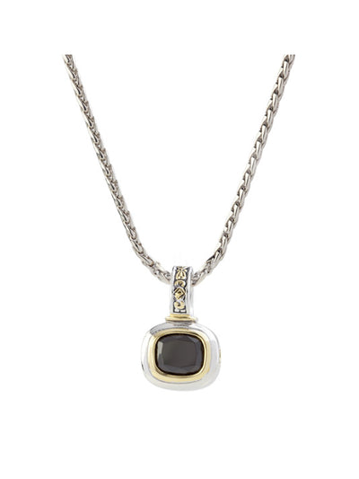 Nouveau Black Slider Charm with Chain