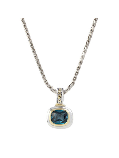 Nouveau Aqua Slider Charm with Chain