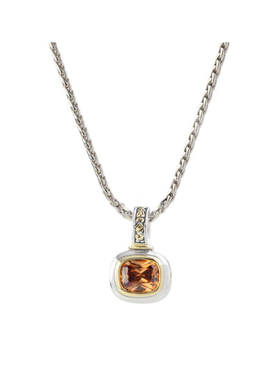 Nouveau Champagne Slider Charm with Chain