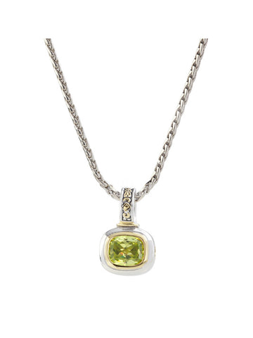 Nouveau Peridot Slider Charm with Chain