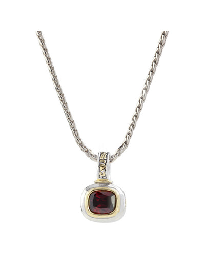 Nouveau Garnet Slider Charm with Chain