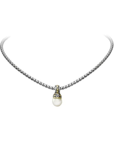 Ocean Images Collection Pearl Slider With Chain - John Medeiros Jewelry Collections