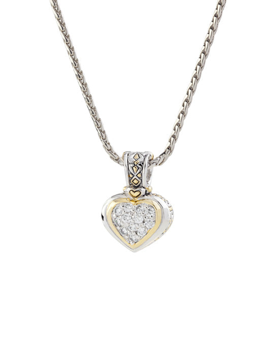 Heart Collection Pavé Enhancer Charm with Chain