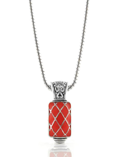 LIMITED Coral Lattice Rectangle Enhancer with Chain
