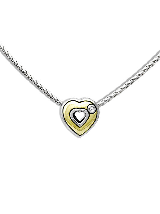 Heart Collection Solid Heart Pendant with Chain