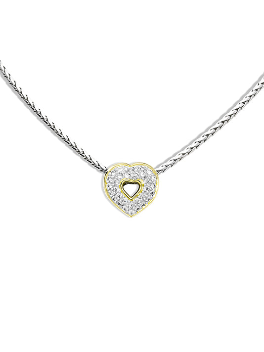 Heart Collection Pav̩ Pendant with Chain