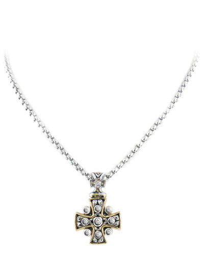 "O-Link Collection 16"" Cross CZ Necklace"