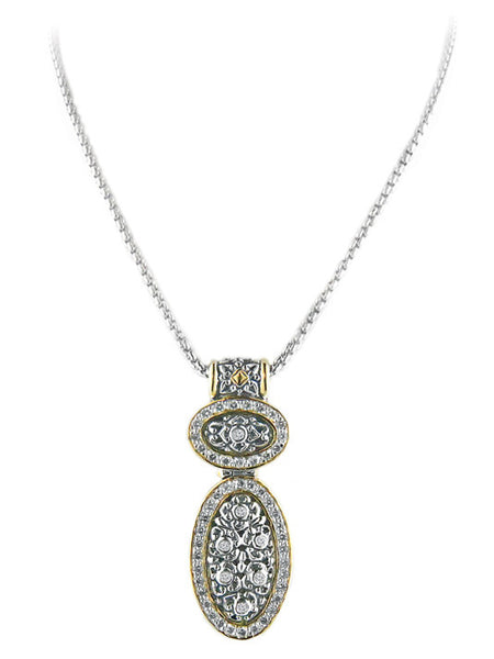 O-Link Collection Filigree Double Oval Slider with Chain