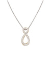 Oval Pavé Infinity Enhancer with Chain by John Medeiros Jewelry Collections.