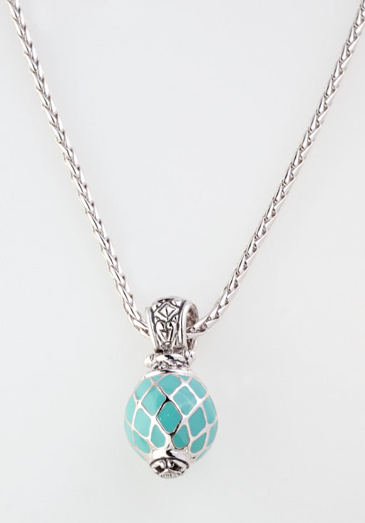 Lattice Collection Turquoise Ball Slider with Chain