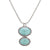 Ocean Images Turquoise Seas Oval Drop Necklace