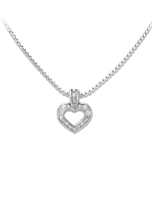 Two Hearts Inseparable Slider with Chain by John Medeiros Jewelry Collections.