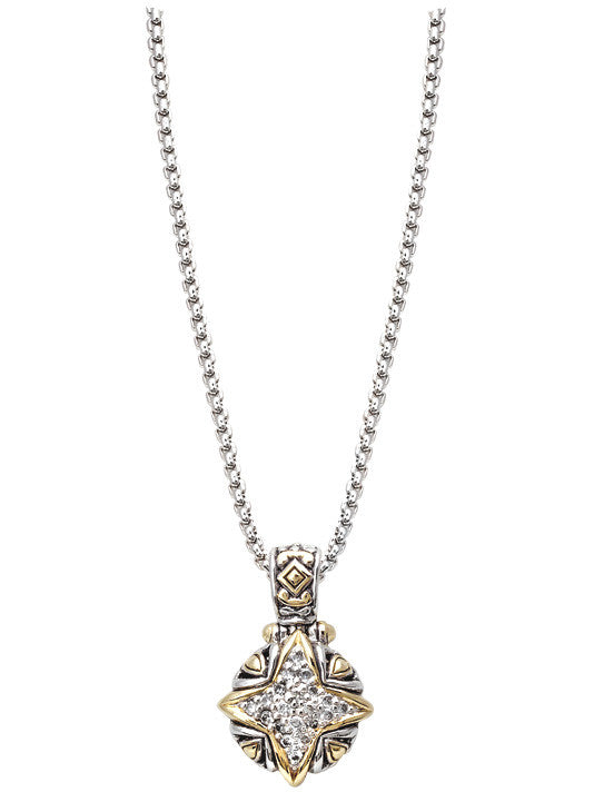 "O-Link Collection 16"" Falling Stars CZ Slider with Chain"