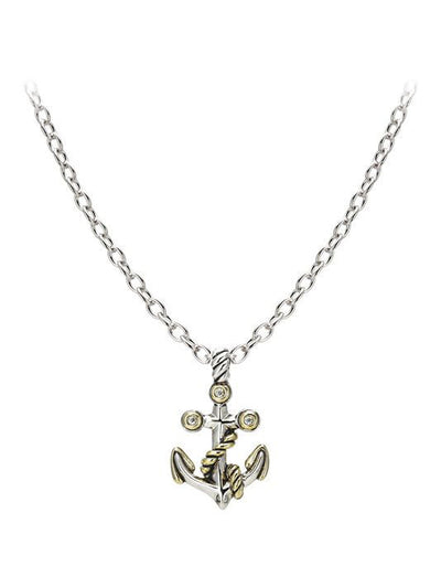 Ocean Images Seaside Collection Two-Tone Anchor Slider with Chain - John Medeiros Jewelry Collections