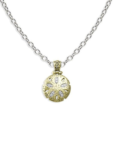 Seaside Sand Dollar Pendant with Chain - John Medeiros Jewelry Collections