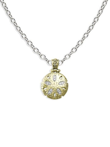 Seaside Sand Dollar Pendant with Chain