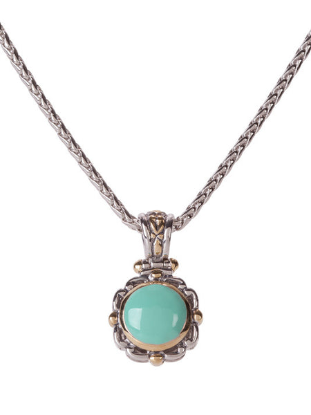 Nouveau Simplicity Turquoise Round Slider with Chain