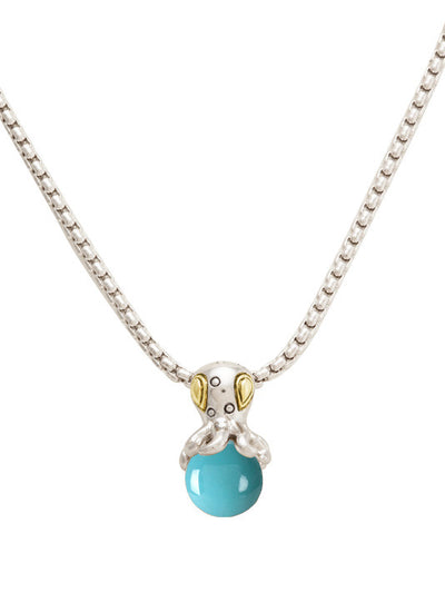 Ocean Images Aqua Viva Seaside Collection Octopus Slider Pendant with Chain