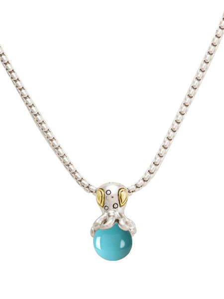 John Medeiros Aqua Viva Seaside Pendant with Chain