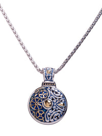 John Medeiros Blue Anvil Collection - Gears of Time Edition - Round Pendant with Chain