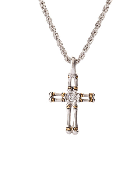 Canias Collection Double Row Cross with Chain