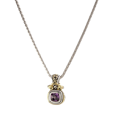 Anvil Color Amethyst Large Slider with Chain