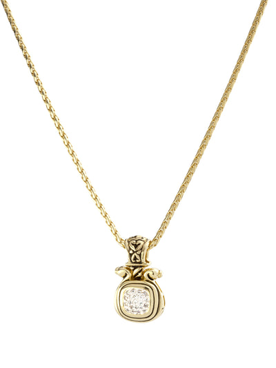 Anvil Gold & Pavé Large Slider with Chain