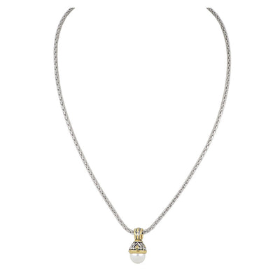 Ocean Images Collection Small 10mm White Pearl Slider Necklace