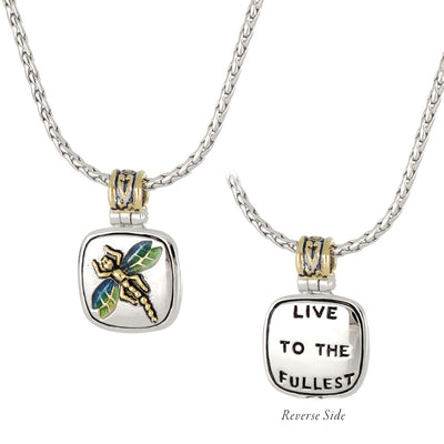 Celebration Memories Dragon Fly Pendant Necklace
