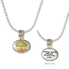 Celebration Memories Painted Tree of Life Pendant Necklace