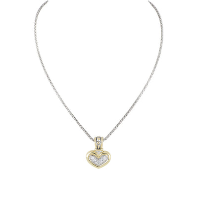 Celebration Petite Pavé JM Bail Heart Necklace