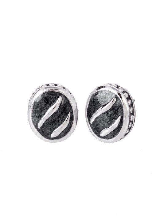Ocean Images Black Seas Collection Round Stud Earrings
