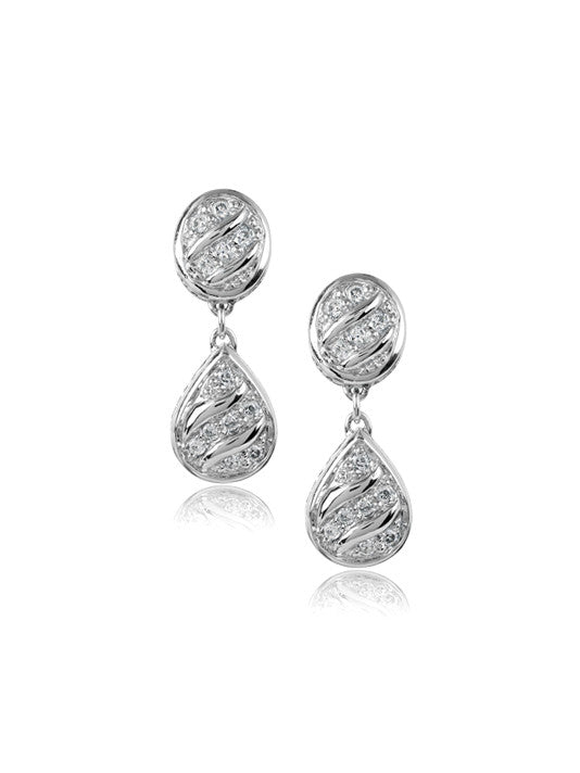 Pavé Drop Earrings by John Medeiros Jewelry Collections.