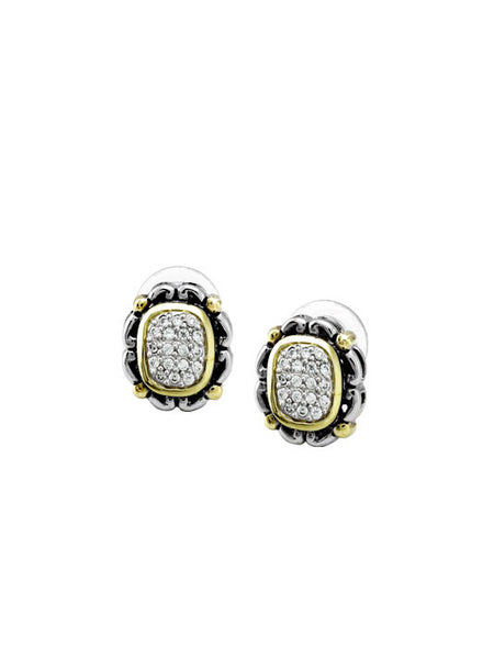Nouveau Collection Simplicity Pavé Antique Oval Earrings