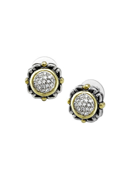 Nouveau Collection Simplicity Pavé Round Earrings