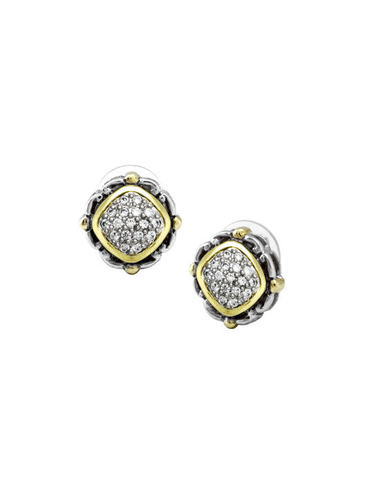 Nouveau Collection Simplicity Pavé Square Stud Earrings