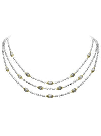 Pavé Triple Strand Beaded Necklace by John Medeiros Jewelry Collections.