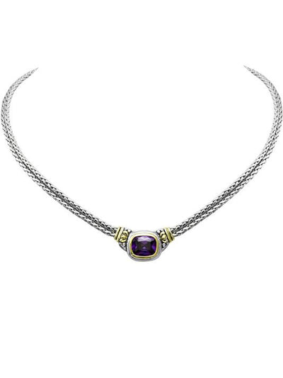Nouveau Double Strand Necklace in Amethyst by John Medeiros Jewelry Collections.