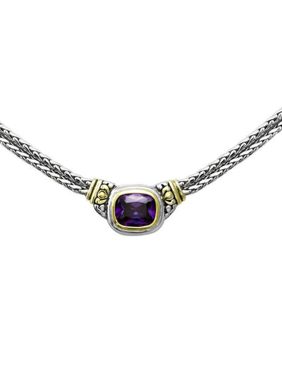 Nouveau Double Strand Necklace in Amethyst by John Medeiros Jewelry Collections. Close up.