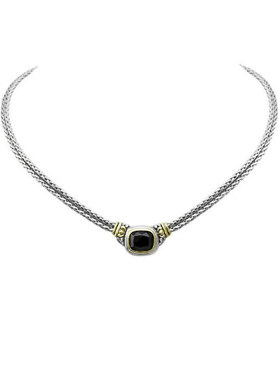 Nouveau Double Strand Necklace in Black by John Medeiros Jewelry Collections.