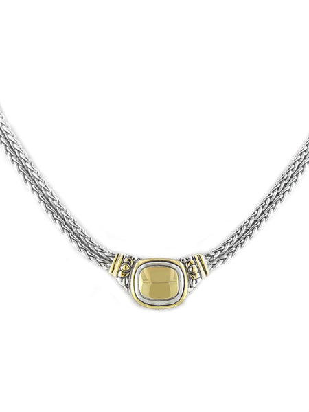 Nouveau Gold Dome Double Strand Necklace