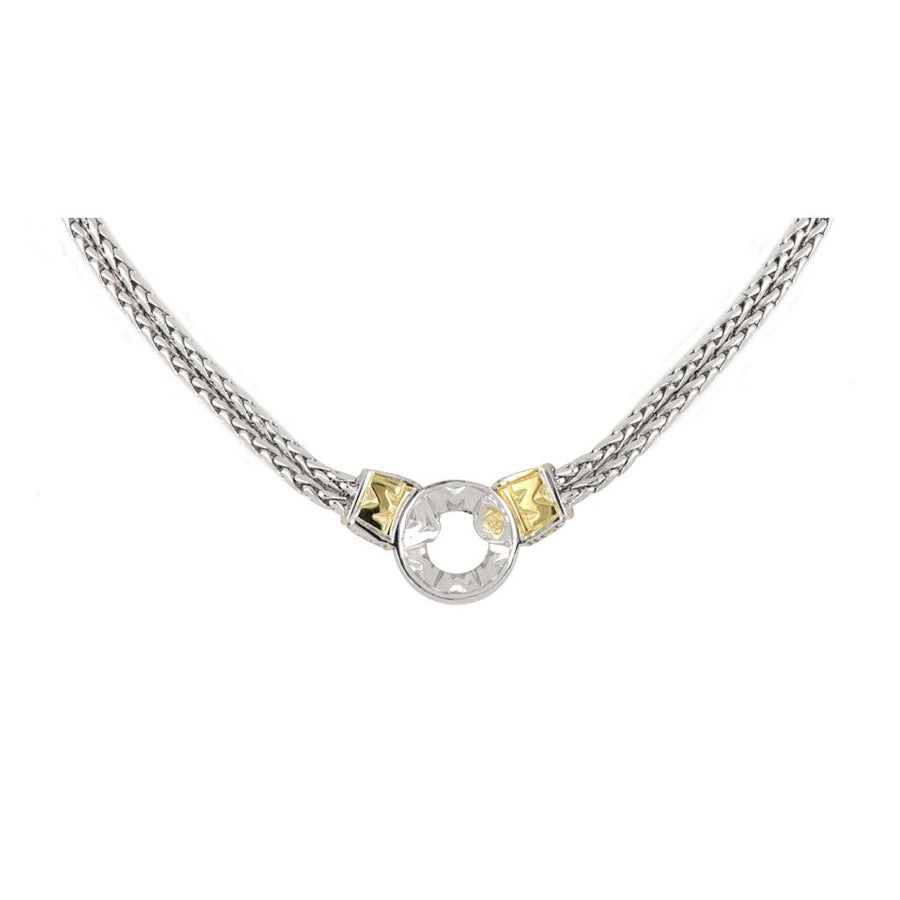 Antiqua Pavé Circle Double Strand Necklace