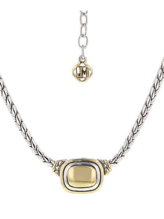 Nouveau Gold Dome Single Strand Necklace