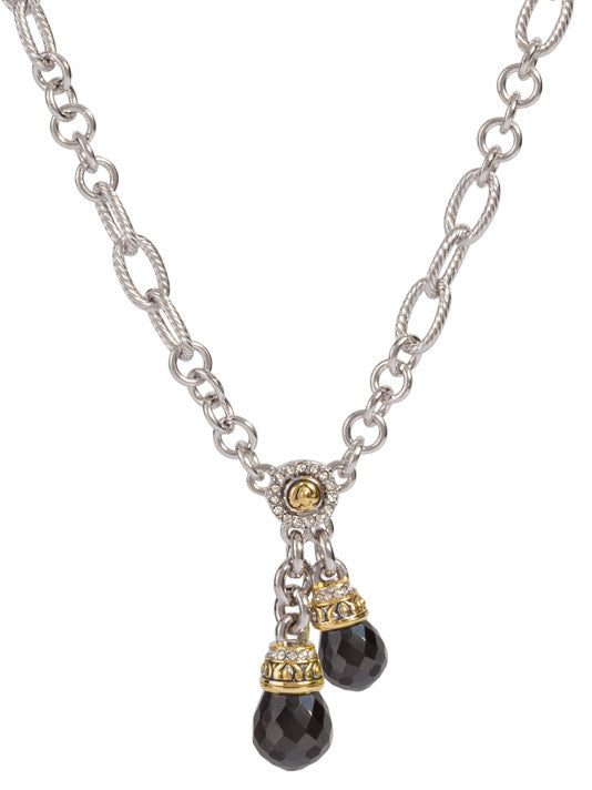 Briolette Double Drop Necklace