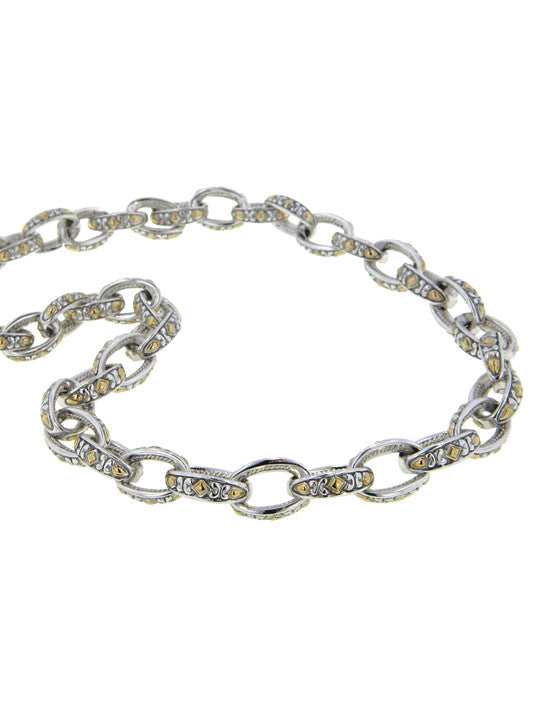 Oval Link Collection Two Tone Necklace