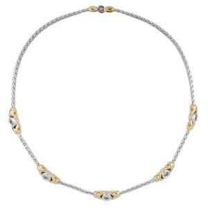 Antiqua 5 Station Circle CZ Necklace