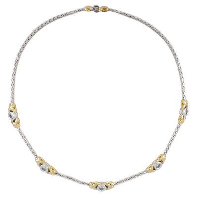 Antiqua 5 Station Circle CZ Necklace - John Medeiros Jewelry Collections