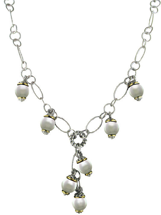 Ocean Images Collection Seashell Pearl Drop Necklace