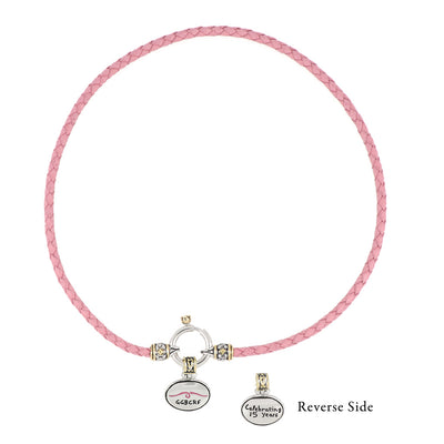 Gloria Gemma Series '15 Years' Pink Spring Ring Necklace
