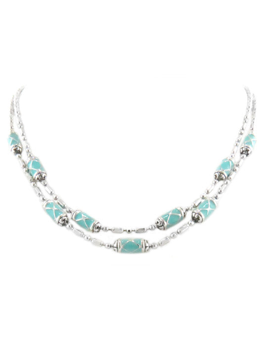 Lattice Collection Double Strand Necklace